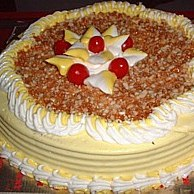 Cake with card